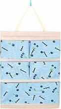 CWAIXX Einfache Stoff Baumwolle Oxford Tuch Taschen mehrschichtigen finishing Wand Veranstalter Abstellkammer hinter der Tür hängen, Eine Vielzahl von optionalen, Queen Blue cherry