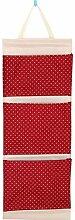 CWAIXX Einfache Stoff Baumwolle Oxford Tuch Taschen mehrschichtigen finishing Wand Veranstalter Abstellkammer hinter der Tür hängen, Eine Vielzahl von optionalen, Trompete Rote Welle