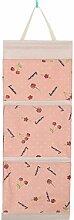 CWAIXX Einfache Stoff Baumwolle Oxford Tuch Taschen mehrschichtigen finishing Wand Veranstalter Abstellkammer hinter der Tür hängen, Eine Vielzahl von optionalen, Trompete Pink cherry