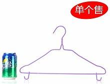 CWAIXX Hausgebrauch winddicht Kleiderbügel rutschfest ohne Erwachsene Kleiderbügel Kleiderbügel Kleidung hängen trocken Wäscheständer 1, Lila Trompete