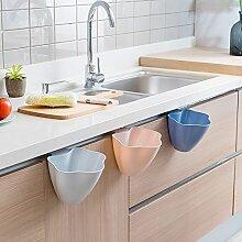 CWAIXX Küche Schranktüren hängenden Behälter Kunststoff Abfall Boxen Aufbewahrungsboxen Wurf Fässer von Blumen Müll , Rosa Blume förmige Mülleimer