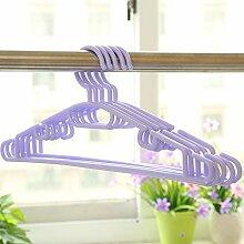 CWAIXX Kunststoff Kleiderbügel Kleiderbügel Kleidung Rack Pol Slip adult indoor Trockengestelle ohne Bügel 1, Lila