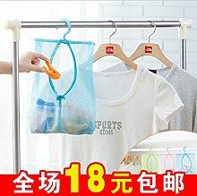 CWAIXX Lazy liefert Haushaltsgegenstände Praktische Küche Sanitär Tasche Artefakt, Grün 22 CM * 37 CM