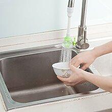 CWAIXX Wasserhahn Küchenbrause besprüht Wasser regulieren Ventil Armaturen Bubbler Ventil Wasserfilter Wasser sparen, Grün