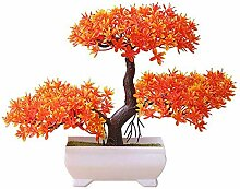 CWeep Artificial Potted Pine Tree Bonsai Plant