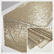 Cwfengtablecloth Leichte goldene Pailletten