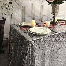Cwfengtablecloth Silber 50 x 50 Quadrat Hochzeit