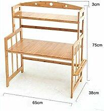 CWJ Bambus Mikrowelle Rack Küche Haus Ware Regal