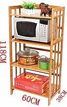 CWJ Vier Schicht Bambus Mikrowelle Rack Küche