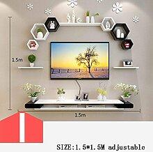 CWJ Wand Kreative Gitterregal Tv Wanddekoration