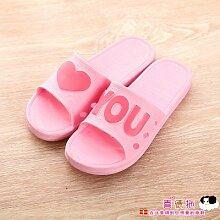 40-41 rosa CWJDTXD Sommer Hausschuhe Einfache gestreifte Licht Sandalen und Hausschuhe einfarbig Männer und Frauen Paar Hausschuhe Pantoffel Bad Hausschuhe