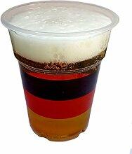 CWPACK 250 WM Deutschland, Bierbecher Plastikbecher, Partybecher, transparent 0,3l