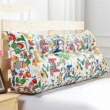 CWT-Kissen Dreieck Dreidimensional Bettseite Sofa Kissen Kissen Rückenlehne Lordosenstütze Kissen gemütlich entspannen weich Eine Vielzahl von Mustern Mehrere Größen Bequeme Kissen ( farbe : #13 , größe : Length 100cm )
