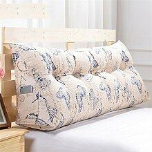 CWT-Kissen Dreieck Dreidimensional Bettseite Sofa Kissen Kissen Rückenlehne Lordosenstütze Kissen gemütlich entspannen weich Eine Vielzahl von Mustern Mehrere Größen Bequeme Kissen ( farbe : # 5 , größe : Length 120cm )