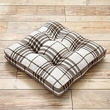 CWT-Kissen Gitter verdicken Hochwertig Kissen Sitzkissen Stuhlkissen Sofa Kissen gemütlich entspannen Flachs 45cm * 45cm Bequeme Kissen ( farbe : # 4 )
