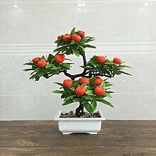 Cwxy Orange Topf Topf Bonsai Simulation Pflanze