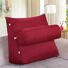CX-PILLOW Abnehmbare Bedside Dreieck Kissen Sofa Rückenlehne Kissen Bürostuhl Taille Pillow Neck Back Mode schöne Kissen ( farbe : A6 , größe : 45*45*20 )