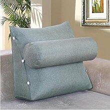 CX-PILLOW Abnehmbare Bedside Dreieck Kissen Sofa Rückenlehne Kissen Bürostuhl Taille Pillow Neck Back Mode schöne Kissen ( farbe : B2 , größe : 60*50*23 )