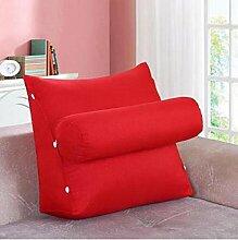 CX-PILLOW Abnehmbare Bedside Dreieck Kissen Sofa Rückenlehne Kissen Bürostuhl Taille Pillow Neck Back Mode schöne Kissen ( farbe : A5 , größe : 60*50*23 )