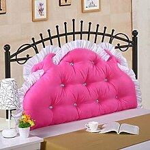 CX-PILLOW Baumwolle Bett Kissen Große weiche Kissen Baumwolle Princess Bett auf der Rückseite eines langen Doppelkissen mit abnehmbaren Kern waschbar Core Mode schöne Kissen ( farbe : A5 , größe : 1.5M )