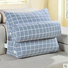 CX-PILLOW Bedside großes Kissen Sofakissen Büro Lendenkissen Bett Rückenpolster dreieckigen Kissen Taillenkissen Mode schöne Kissen ( Farbe : L , größe : L )