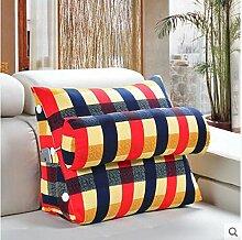 CX-PILLOW Bedside Kissen Office Lumbal Rücken Kissen Bett Nackenkissen Sofa Kissen Kissen Mode schöne Kissen ( farbe : A1 , größe : 60 )