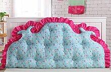 CX-PILLOW Bedside Rückenlehne Dreieck Bedside Kissen Sofa Kissen Kissen Kissen Doppelbett Soft Pack Bett Große Kissen Bett Rückenlehne Abnehmbare waschbar Mode schöne Kissen ( farbe : B3 , größe : 120*85cm )