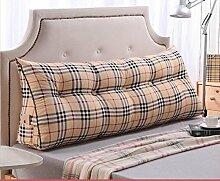 CX-PILLOW Bett Kissen Dreieck Kissen Baumwolle Sofa große Kissen Auto zurück Mode schöne Kissen ( farbe : A2 , größe : 80*23*50 )