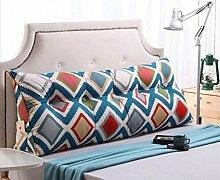 CX-PILLOW Bett Kissen Dreieck Kissen Baumwolle Sofa große Kissen Auto zurück Mode schöne Kissen ( farbe : A7 , größe : 100*23*50 )
