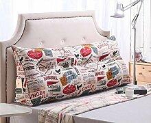 CX-PILLOW Bett Kissen Dreieck Kissen Baumwolle Sofa große Kissen Auto zurück Mode schöne Kissen ( farbe : A6 , größe : 120*23*50 )