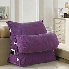 CX-PILLOW Dreieck Kissen Bedside Kissen Back Office Rückenlehne Kissen Bett Nackenkissen Sofa Kissen Abnehmbar Mode schöne Kissen ( farbe : B6 , größe : Length 45CM )