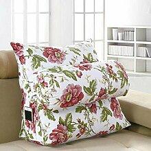 CX-PILLOW Dreieck Kissen Bedside Kissen Back Office Rückenlehne Kissen Bett Nackenkissen Sofa Kissen Abnehmbar Mode schöne Kissen ( farbe : A6 , größe : Long 60CM )