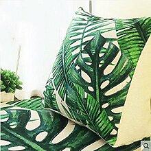 CX-PILLOW Dreieck Kissen Kissen Büro Lendenwirbel Rücken Kissen Sofa Kissen mit Core Rückenlehne Nachttisch Kissen Mode schöne Kissen ( Farbe : A2 , größe : 45cm*40cm*18cm )