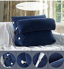 CX-PILLOW Dreieck Sofa Kissen Nachttisch mit Kopfkissen Kopfstütze Taille Bürostuhl Rückenlehne waschbar Mode schöne Kissen ( Farbe : H , größe : Size45*25*50cm )