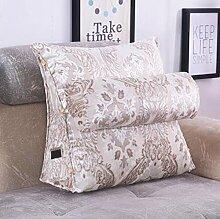 CX-PILLOW European - Style Jacquard Large Back Kissen auf dem Bett Dreieck Kissen Bedside Soft Kissen Soft Pillow Mode schöne Kissen ( farbe : A4 , größe : 60X50X20cm )