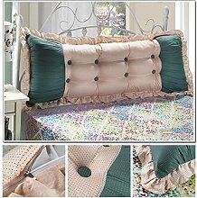 CX-PILLOW Günstige Baumwolle Bett großes Kissen Bett Rückenlehne Kissen Paar Doppel Kissen gepolstert Mode schöne Kissen ( Farbe : #10 , größe : 1.5m )