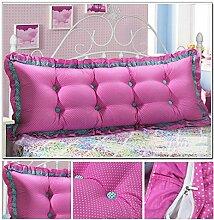 CX-PILLOW Günstige Baumwolle Bett großes Kissen Bett Rückenlehne Kissen Paar Doppel Kissen gepolstert Mode schöne Kissen ( Farbe : # 2 , größe : 1.8m )