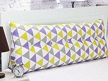 CX-PILLOW Heimtextilien Kissen Baumwolle Dreieck Kopfstütze Kissen Sofa Kissen Zurück Entfernbar Mode schöne Kissen ( farbe : E , größe : 80*25*50cm )