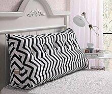 CX-PILLOW Kissen Bedside Rückenlehne Dreieck Bett Kissen Sofa Lange Kissen Große Kissen Bett Kissen Mit Core Abnehmbare waschbar Mode schöne Kissen ( Farbe : A6 , größe : 180*22*50cm )