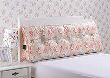 CX-PILLOW Kissen, Dreieckkissen, Bett großes Kissen, Doppelbett weichen Paket, Bett Rückenpolster, Kissen Lendenstütze Mode schöne Kissen ( farbe : A3 , größe : 58x50x28cm )
