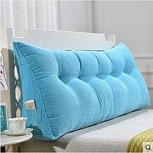 CX-PILLOW Kissen, Dreieckkissen, Bett großes Kissen, Doppelbett weichen Paket, Bett Rückenpolster, Kissen Lendenstütze Mode schöne Kissen ( farbe : A1 , größe : 100cm )