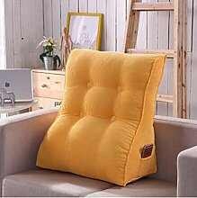 CX-PILLOW Kissen, Dreieckkissen, Bett großes Kissen, Doppelbett weichen Paket, Bett Rückenpolster, Kissen Lendenstütze Mode schöne Kissen ( farbe : A4 , größe : 55X60cm )