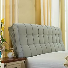 CX-PILLOW Leder Nacht Soft Paketdoppelbett Nachtkissen-weiches Bett-Kissen Rückenbettdecke für 1.2m Bett oder 1.5m Bett Mode schöne Kissen ( Farbe : # 9 , größe : 1.2m Bed )