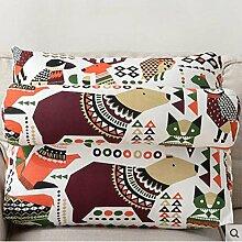 CX-PILLOW Sofa Kissen Kissen Bedside Dreieck Große Kissen Office Sofa Kissen Taille Back Pad Mode schöne Kissen ( farbe : A3 , größe : 40*50*22 )