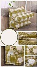 CX-PILLOW Triangle Taille Kissen Kissen gepolstertes Sofa-Bett Rückenlehne lumbalen Rückenpolster Mode schöne Kissen ( Farbe : # 3 , größe : M )