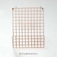 CXBB Moderne Stacheldraht eiserne Wand Bilder ins Grid rack Nordic minimalistischen plating Wanddekoration Kleiderbügel, Rose Gold