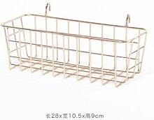 CXBB Moderne Stacheldraht eiserne Wand Bilder ins Grid rack Nordic minimalistischen plating Wanddekoration Kleiderbügel, hängenden Korb Champagner Gold