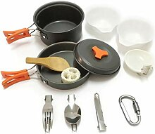 CXJC Camping Kochgeschirr Kit Outdoor Pot Pan