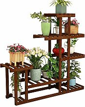 CXLT Pflanzenregal Blumenregal Holz Kiefer