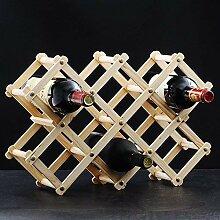 Cxmm Arbeitsplatte Weinregal Für 10 Flaschen Holz